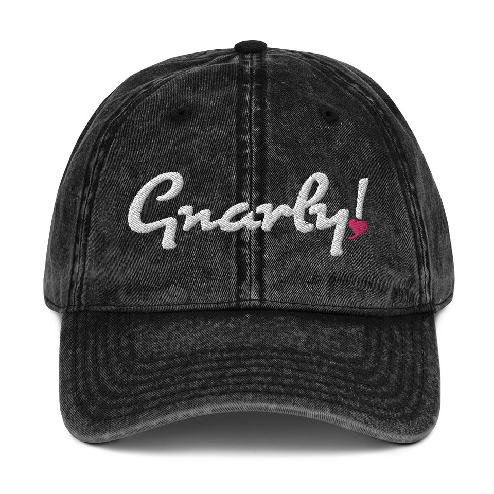 Gnarly! Vintage Cotton Twill Cap