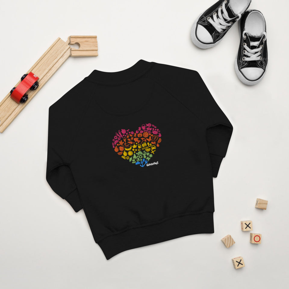 Baby Organic Bomber Jacket - Colorful Heart