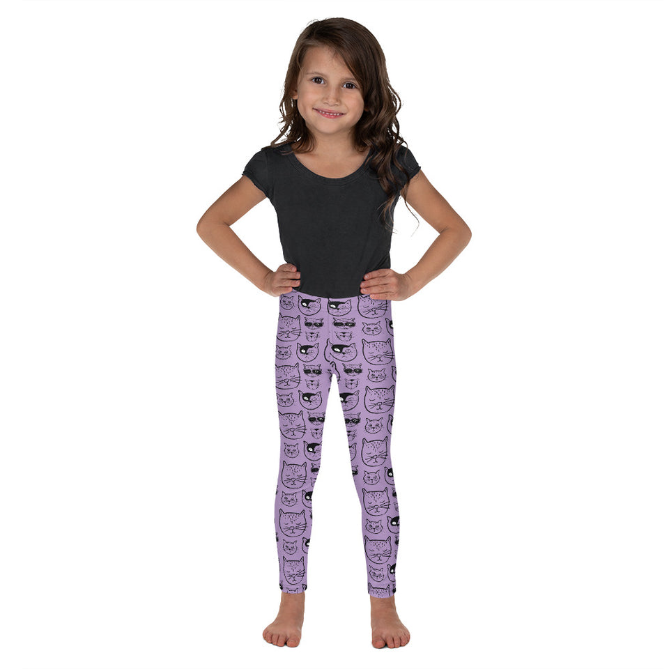 Purple Cat- Kid's Leggings