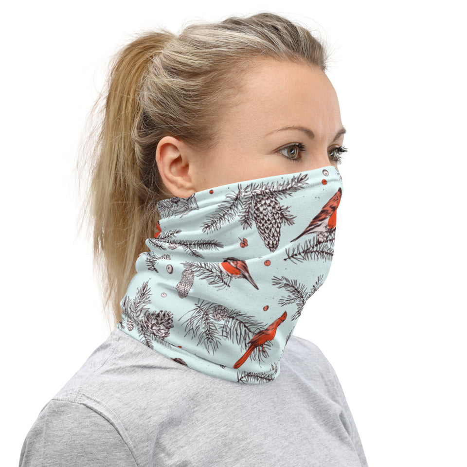 Christmas Bird Neck Gaiter