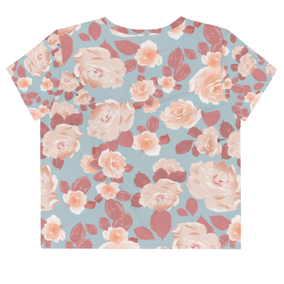 Spring Flower Crop Top Tee