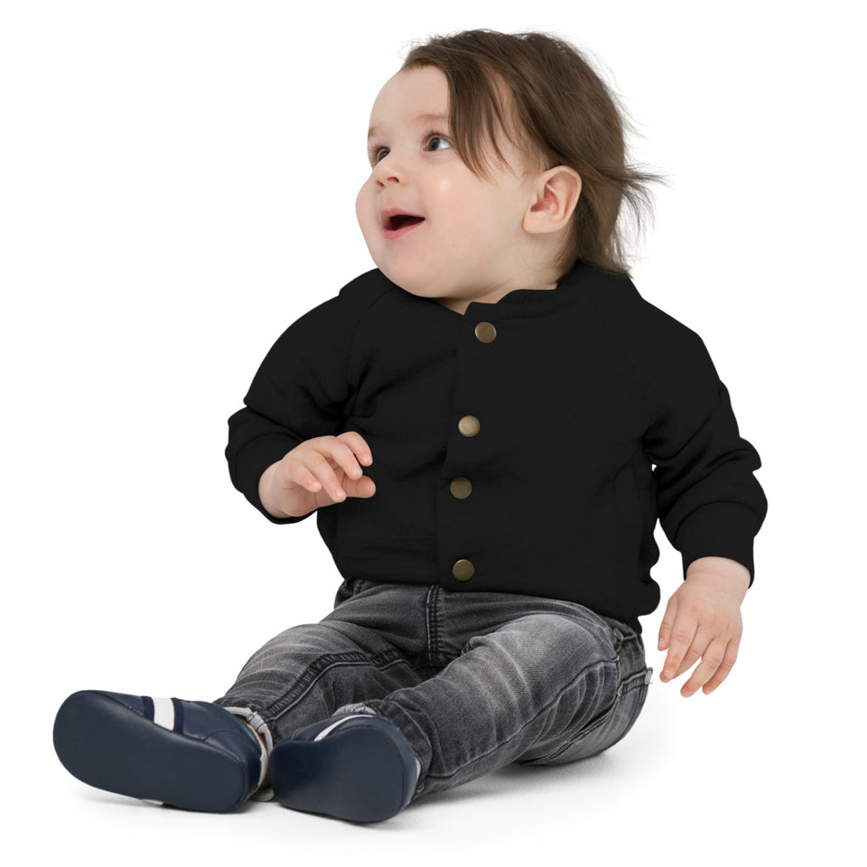 Baby Organic Bomber Jacket - Gnarly Black