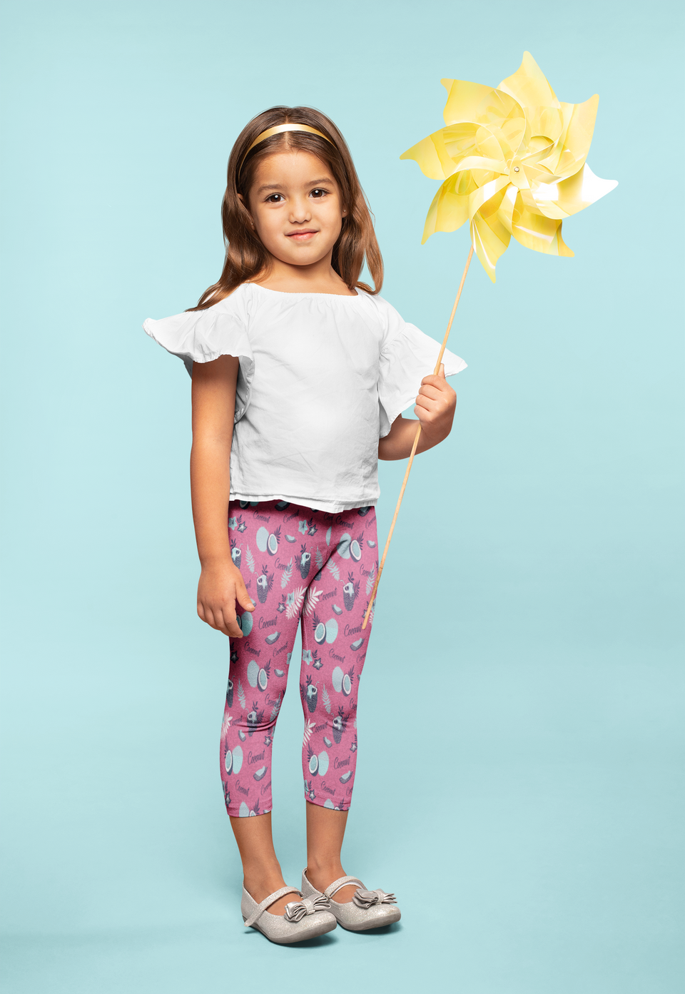 Coconut Pink-Kid's Leggings