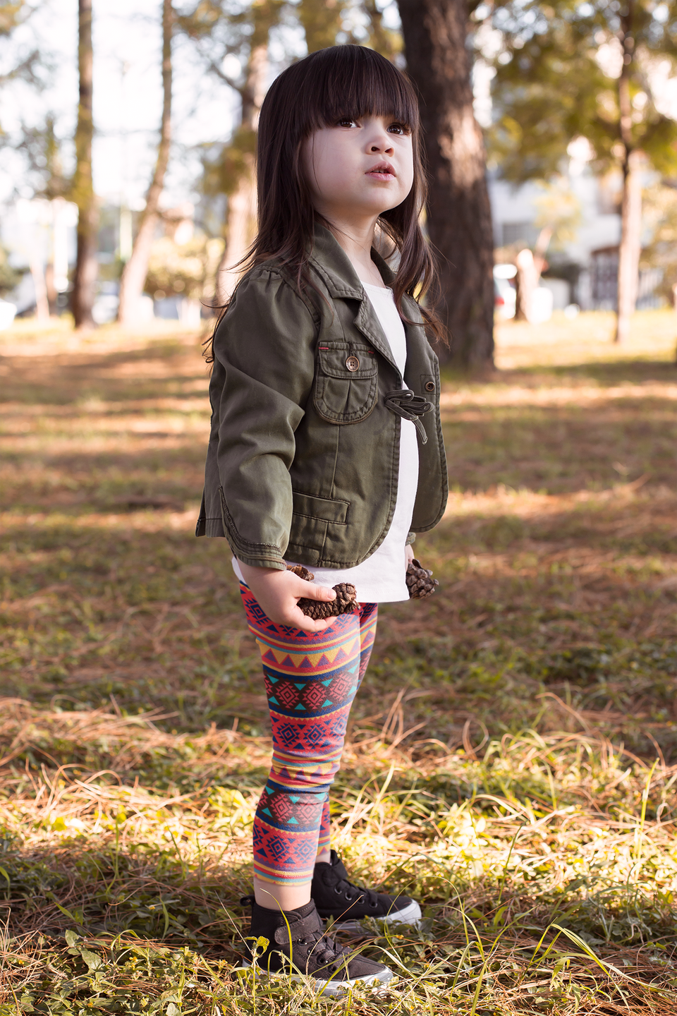 Folk Style - Red&Yellow Kid's Leggings
