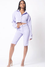 Load image into Gallery viewer, Long Sleeve Crop Biker Set