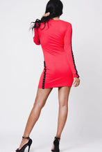 Load image into Gallery viewer, Button Detail Ribbed Mini Dress