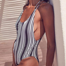 Load image into Gallery viewer, Charming Stripe Swimsuit