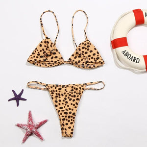 Two-Piece leopard Swimsuit