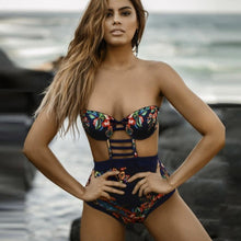 Load image into Gallery viewer, Floral Padded Bra Swimsuit Swimsuit