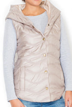 Load image into Gallery viewer, Beige Katrus sleeveless Jacket