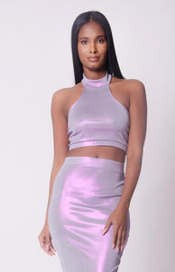 Halter Neck Skirt Set