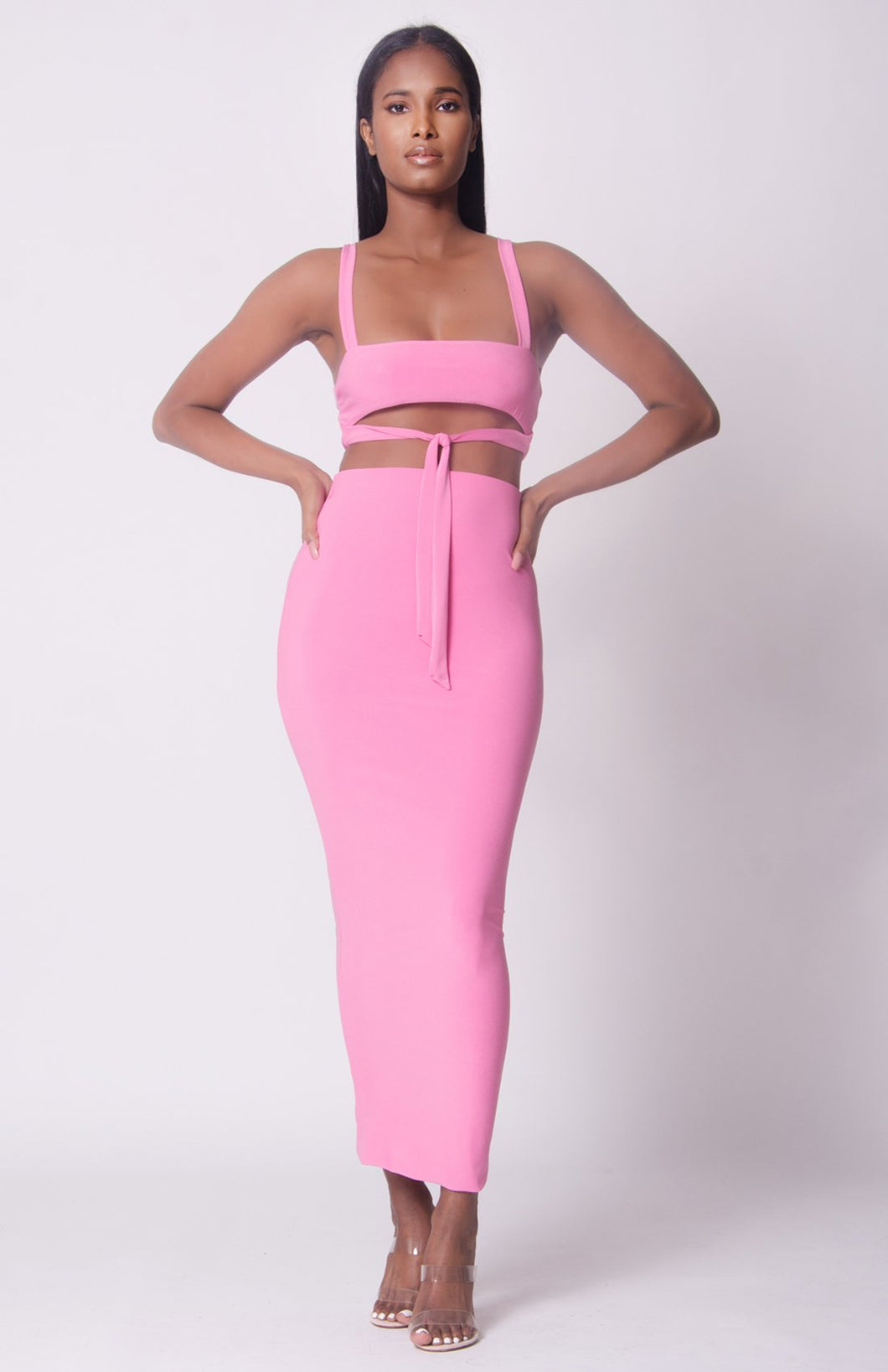 Tie Front Two Piece Set