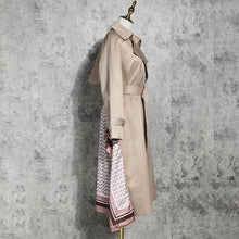 Load image into Gallery viewer, Patchwork Ruched Trench Coat