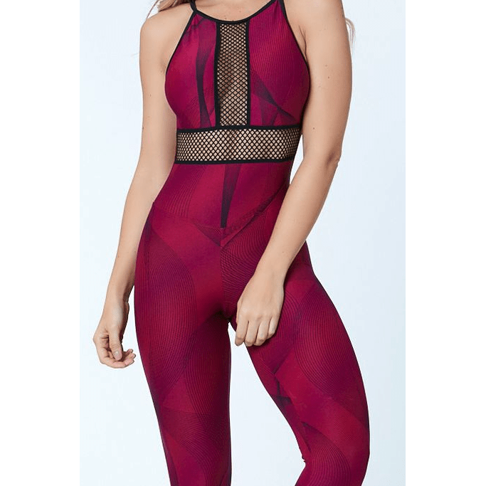 Workout Jumpsuit Poliana - Burgundy