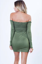 Load image into Gallery viewer, Ruffled Lined Mini Dress