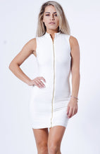 Load image into Gallery viewer, Front Zipper Mini Dress