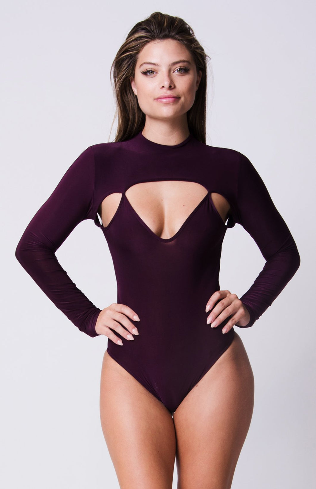 Long Sleeve Cutout Detail Bodysuit