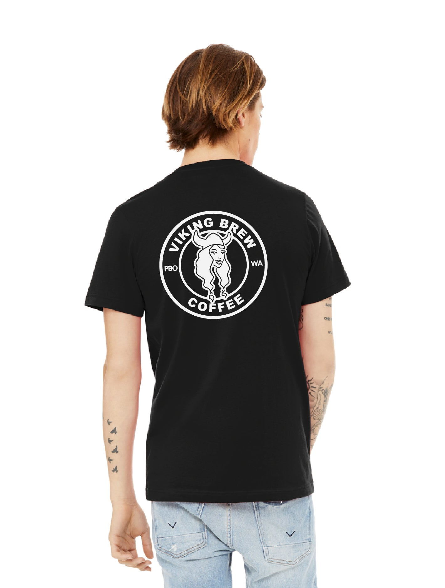 Viking Brew V-Neck Black T-Shirt