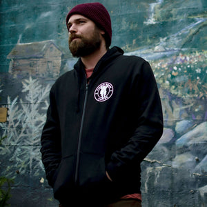 Viking Brew Black Zip Up Hoody