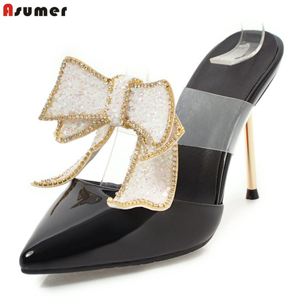 49930a01518 ASUMER 2018 summer shoes pointed toe elegant wedding shoes woman thin heel  butterfly knot pumps women shoes high heels shoes