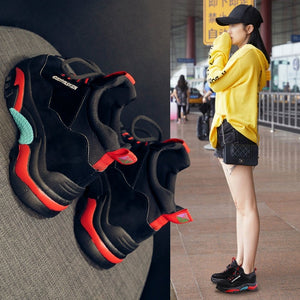 Basket Women's Vulcanize Shoes Sneakers Ladies Trainer Shoe Platform Women Sneakers Fashion Shoes Red Womans Sports Shoes Female