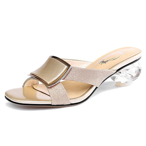 CONASCO 2019 Summer Concise Square Toe Strange Style Women Sandals Slip On Party Casual Shoes Woman New Elegant Lady High Heels