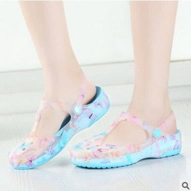ba0fe3eeb0d5 ... Image of Cresfimix women fashion spring   summer soft jelly sandal  shoes lady cute comfortable floral ...