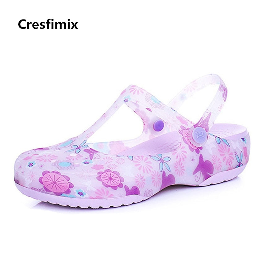 bbd75a25d4a0 Click to expand · Cresfimix women fashion spring   summer soft jelly sandal  shoes lady cute comfortable floral sandals female