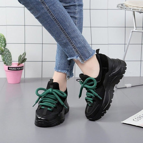 Image of Designer Shoes for Ladies Basket Femme Chunky Sneakers Femme Trainers Womens Shoes High Heels Platform Sneakers Zapatillas Mujer