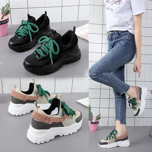 Designer Shoes for Ladies Basket Femme Chunky Sneakers Femme Trainers Womens Shoes High Heels Platform Sneakers Zapatillas Mujer