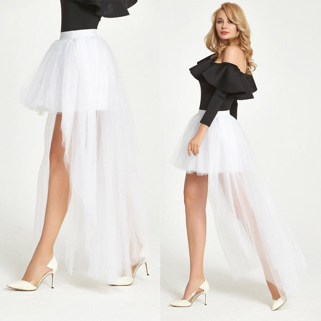 8ab27ac36 Fashion Women 4 Layer Tulle Skirt Vintage 50s Rockabilly Tutu Petticoat  Ball Gown Skater Skirts. Hover to zoom