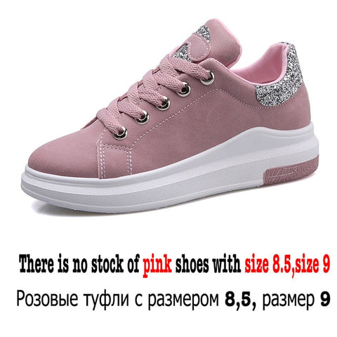 Image of Fuijin 2019 Spring Summer Autumn women Fashion sneakers  female casual shoes  platform PU leather classic cotton lace up shoes