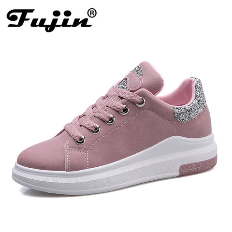 Fujin Brand 2018 Spring Women New sneakers  Autumn Soft Comfortable Casual Shoes Fashion Lady Flats Female shoes for student