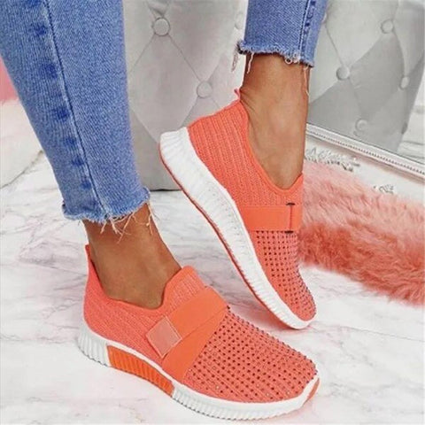 NAN JIU MOUNTAIN 2020 Women Sneakers Rhinestone Casual Shoes Comfortable Women Flat Shoes Velcro Spring Autumn Plus Size 43