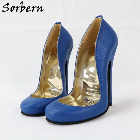 Sorbern Cute Round Toe Women Pump Shoes 16Cm High Heels Real Leather Ladies Shoes Custom 14Cm Shoes For Women Heels Party Shoe