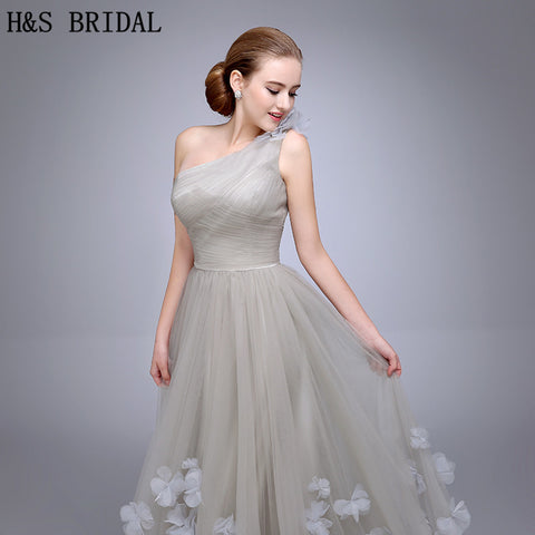 1e5df3abbd17 ... Image of HS11 One Shoulder Evening Gown Ladies Evening Dress 2018 Floral  A Line Evening Party ...