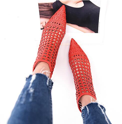 3f5bca95ea4 Hover to zoom · JAWAKYE Elegant Retro Red Gladiator Sandals Womens Cut Outs  Mesh Leather Block Chunky ...