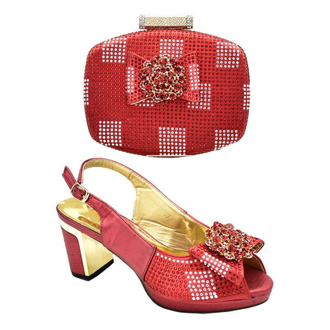 Shoes and Bag Set To Match for Wedding Nigerian Shoes and Matching Bags Bridal Shoes Latest Italian Shoes with Matching Bag Shoe