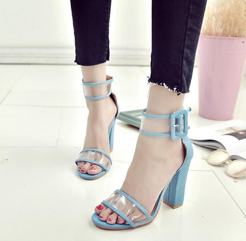 KARINLUNA Brand new 2019 best Quality Fashion Big Size 34-43 summer High Heels ankle-strap Women's Shoes sandals Shoes woman