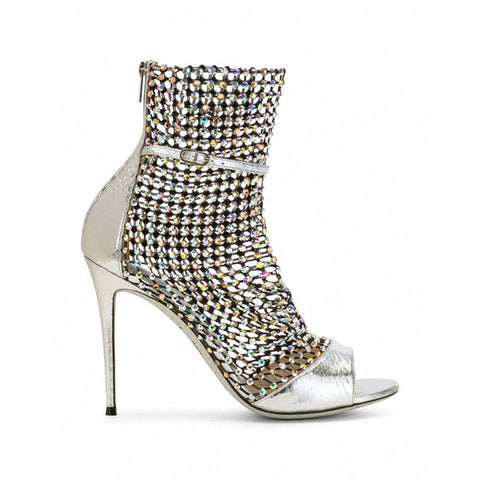0a84443518 Luxury Rhinestone Studded Open Toe Summer Sandals Ankle Boots Bling Caged  Booties Women Sexy Cutouts High Heels Shoes Women 2019