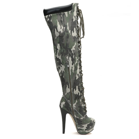 aa18b70b4652 ... Image of Mstacchi Sexy Elastic Cross-tied Over The Knee Boots Women  Stiletto Heel Thigh ...