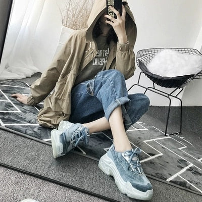 New Fashion Sneaker Women Breathable Sport Casual Shoes Woman Bordered Platform Sneakers Walking Tennis Shoes Women trainers