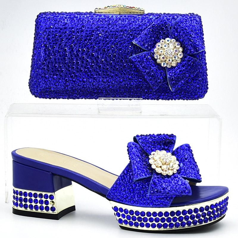 bf31ee5cc7 New Italian Shoes with Matching Bags Shoes and Bags To Match Matching Shoes  and Bag Set for Wedding Rhinestone Women Party Pumps