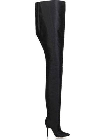 Qianruiti Runway Fetish Shoes Women Plus Size 45 Extreme Long Waist Botas Sexy Thin High Heels Rihanna Crotch Thigh High Boots