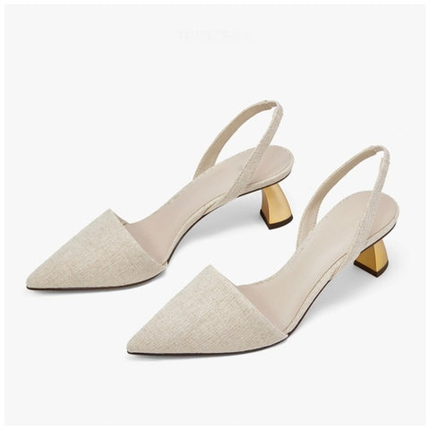 SUOJIALUN 2019 New Brand Women Pumps New Women Sandals Elegant Square High Heels Women Sandals OL Ladies Pumps Shoes
