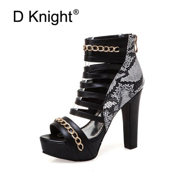 6a97daa3307b Hover to zoom · Sexy Super high-heeled Nightclub Shoes Thick Heel Platform  Peep Toe Women Sandals Back Zip