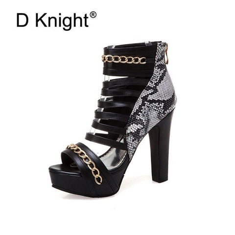 d9ae37b7ac ... Image of Sexy Super high-heeled Nightclub Shoes Thick Heel Platform  Peep Toe Women Sandals ...