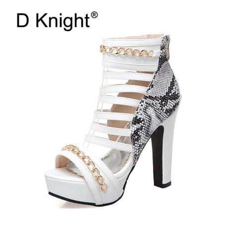 f2746106d0976 ... Image of Sexy Super high-heeled Nightclub Shoes Thick Heel Platform Peep  Toe Women Sandals