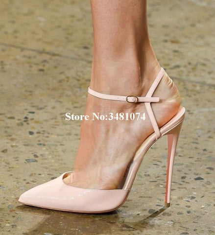 Summer Classic Fashion Pointed Toe And Thin High Heel Buckle Strap Slingback Shoes Sexy Sample Hottest Women Sandals