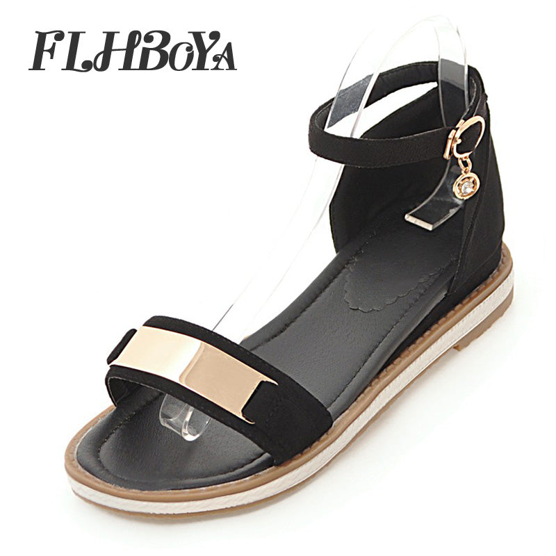 bb020c34f116 Hover to zoom · Summer Women Fashion Flats Sandals Red Black Cover Flat  Heel Bling Crystal Shoes Casual Open Toe
